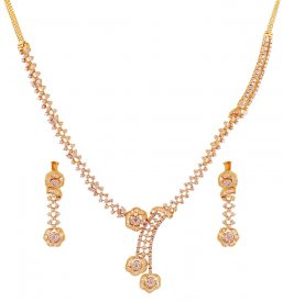 Diamond 18K Gold Necklace Set ( Diamond Necklace Sets )