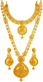 22K Gold Bridal Necklace Set