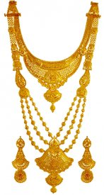 22kt God Bridal Necklace Set ( 22K Necklace Sets (Long) )