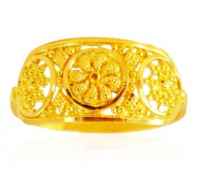 22kt Fancy Gold Ring ( 22K Gold Rings )