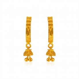 22Kt Gold Earring ( 22K Gold Tops )