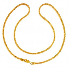 22KT Gold Fox Tail Chain (18 Inch) ( Plain Gold Chains )