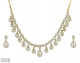 Diamond Necklace Set (18K)