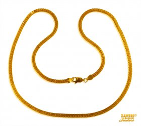 Flat Chain 22 Kt Gold (18 In)