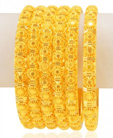22Kt Gold  Bangles Set (set of 6)
