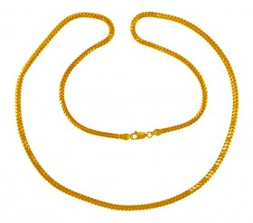 22K Gold Chain 24 In