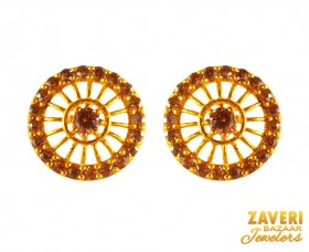 22 Kt Cubic Zircon stones Earrings  ( Gemstone Earrings )