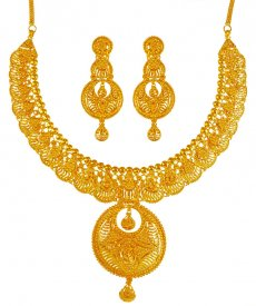 22KT Gold Necklace Set ( 22K Gold Necklace Sets )