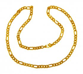 22 Kt Gold Figaro Chain  ( Mens Gold Chain )