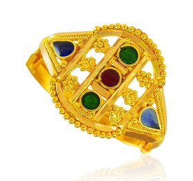 22Kt Gold Ring for ladies ( 22K Gold Rings )