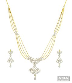 Designer 22k Signity Necklace Set ( Stone Necklace Sets )