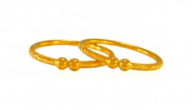 22K Gold Kada For Kids  (Pair)