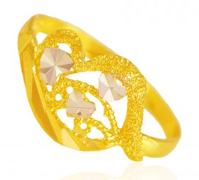 22k Gold Two Tone Ring