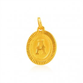 Initial A (Gold Pendant)