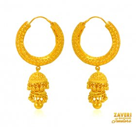 22 kt Gold Hoops Earrings