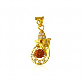 Rudraksh 22k Gold Pendant ( Ganesh, Laxmi, Krishna and more )
