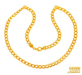 22 Kt Gold Mens Chain
