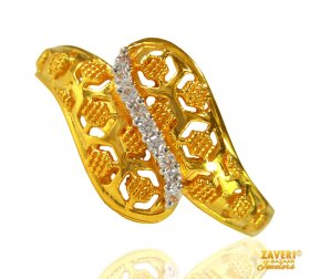 22K Gold Fancy Signity Ring ( Stone Rings )