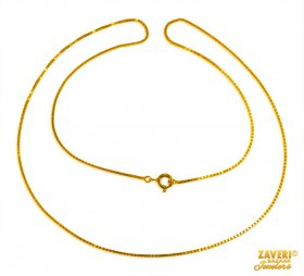 22 Kt Gold Chain (20 In)