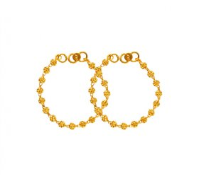 22 Kt Gold Kids Maniya (2PC) ( Baby Bracelets )