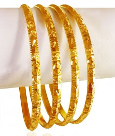 22Kt Gold Bangles  Set (4 pc) ( 22K Gold Bangles )