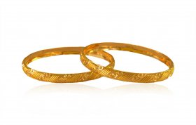 22k Gold  Kids Baby Kada (2pc)
