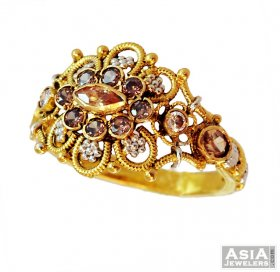 22K Fancy Antique Ring  ( 22K Gold Rings )