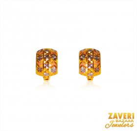 22 Karat Gold  Earrings ( Gold Clipon Earrings )