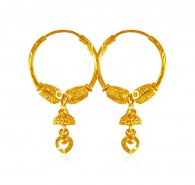 Hoop Earrings 22Kt Gold ( 22K Gold Hoops )