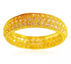 22k Gold Cubic Zircon Band