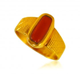 22 kt Gold Ring with Coral ( Gemstone Rings )