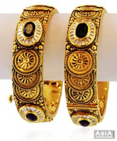 22K Exclusive Antique Kada ( 22K Antique Bangles )
