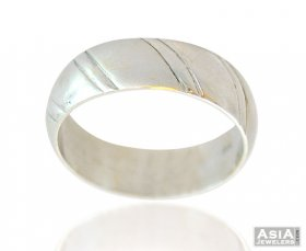 22k Fancy White Plated Mens Ring