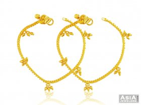 22K Yellow Gold Baby Anklets  ( Baby Anklets )