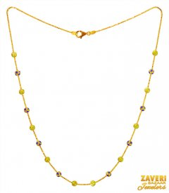22k Gold Multicolor Beads Chain ( Gold Fancy Chains )
