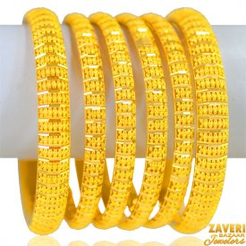 22kt Gold  Bangles Set(6pcs) ( Gold Bangle Sets )
