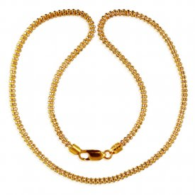 22KT Gold Two Tone Chain (18 In)