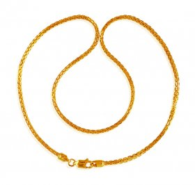 22K Gold Chain 16 In ( Mens Gold Chain )