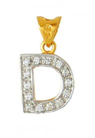 Gold Signity Pendant ( D )