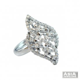Fancy White Gold Ring 18k ( White Gold Rings )