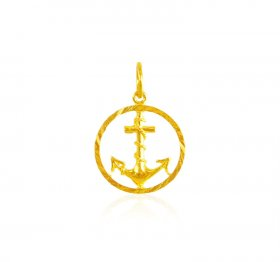 22 Karat Gold Anchor Pendant ( Gold Fancy Pendants )