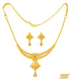 Fancy Necklace Set 22 Kt ( 22K Light Necklace Sets )