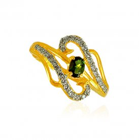 22KT Gold CZ ring for ladies