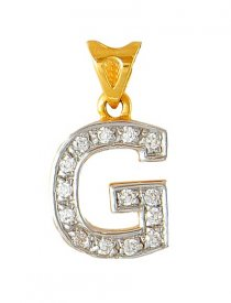 Gold Initial G Pendant
