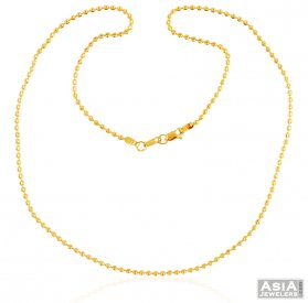 Gold Ball Chain 22K ( Gold Fancy Chains )