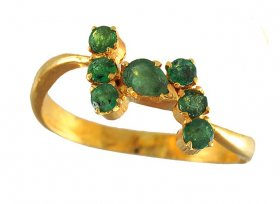 Gold Ring with Emerald ( Gemstone Rings )