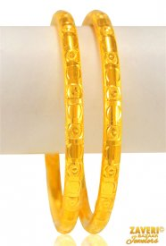 22 Kt Gold Fancy Bangles (2 pcs)