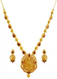 22k Gold Temple Necklace Set