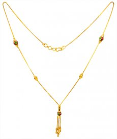 22KT Gold Neck Chain for ladies ( Gold Fancy Chains )