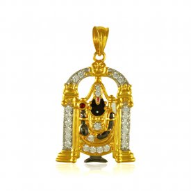 22 kt Gold Lord Balaji Pendant ( Ganesh, Laxmi, Krishna and more )